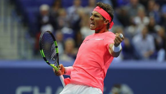 El tenista español Rafael Nadal perdió en el primer set, pero luego impuso su juego para quedarse con el partido. Los parciales fueron  6-7, 6-3, 6-1, 6-4. Foto: AFP