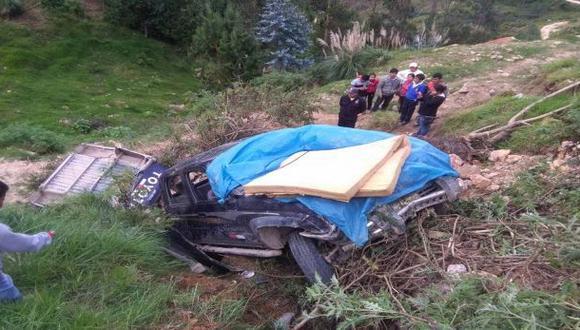Cajamarca: un muerto y tres heridos por despiste de camioneta