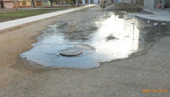 Quejas por aniego de aguas servidas en Chiclayo
