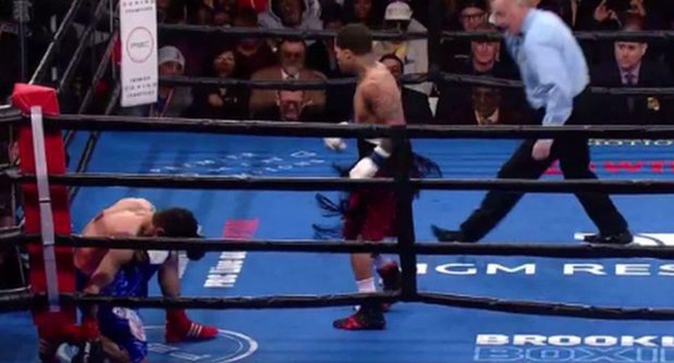 Gervonta Davis noqueó a mexicano Hugo Ruiz y retuvo título mundial superpluma AMB | VIDEO. (Foto: Captura de pantalla)
