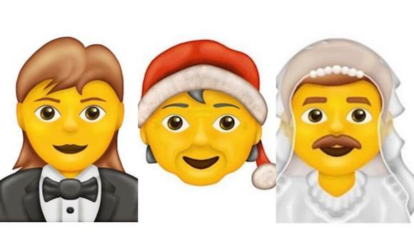 El emoji del Papa Noel sin género definido y el hombre vestido de novia, entre otros, llegan a WhatsApp el 2020. (Foto: Emojipedia)