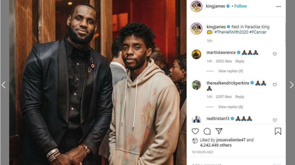 LeBron James, alero de los Ángeles Lakers de la NBA también expresó su pesar. (Foto: captura de pantalla)