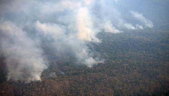 El incendio ha afectado seriamente plantaciones de cacao, yuca y otros cultivos de pan llevar en Satipo (Junín) (Foto: Municipalidad Distrital De Rio Tambo)