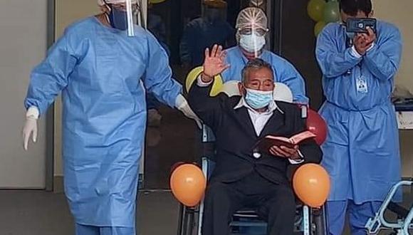 Huancavelica: hombre de 78 años que estuvo hospitalizado durante 25 días venció al COVID-19 (Foto: Diresa Huancavelica)