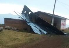 Huánuco: entregan ayuda a damnificados por vientos fuertes en distrito de Honoria