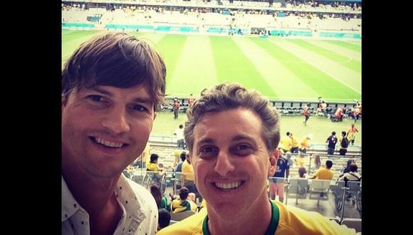 Ashton Kutcher: el hincha inesperado en el Alemania - Brasil