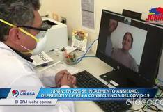 Junín: depresión, estrés y ansiedad incrementaron 25% por el coronavirus