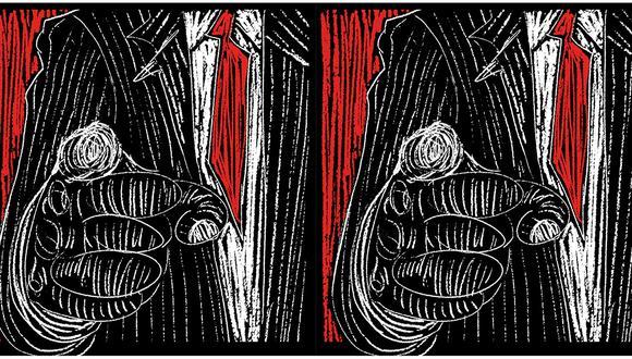 """""""El rechazo al propio autoritarismo de Fujimori y la patética imagen que nos dejan los que levantan el miedo como respuesta no debería llevar a minimizar estos rasgos autoritarios de Castillo"""". (Ilustración: Giovanni Tazza)"""