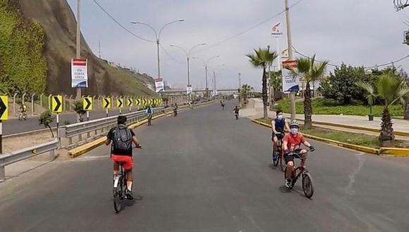 La Costa Verde se ha convertido en un espacio para los ciclistas y transeúntes los domingos. (Foto: Municipalidad de Magdalena)