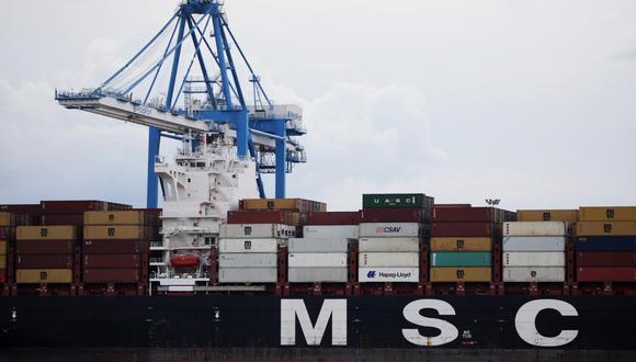 La guardia costera de EEUU continúa la inspección del MSC Cayane (Foto: AFP)