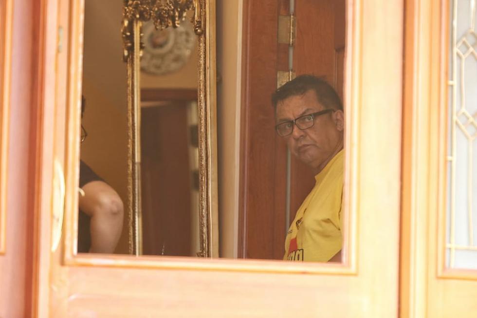 Detienen a Juan Sotomayor, exalcalde del Callao, en su casa de Jesús María. (Foto: Giancarlo Ávila)