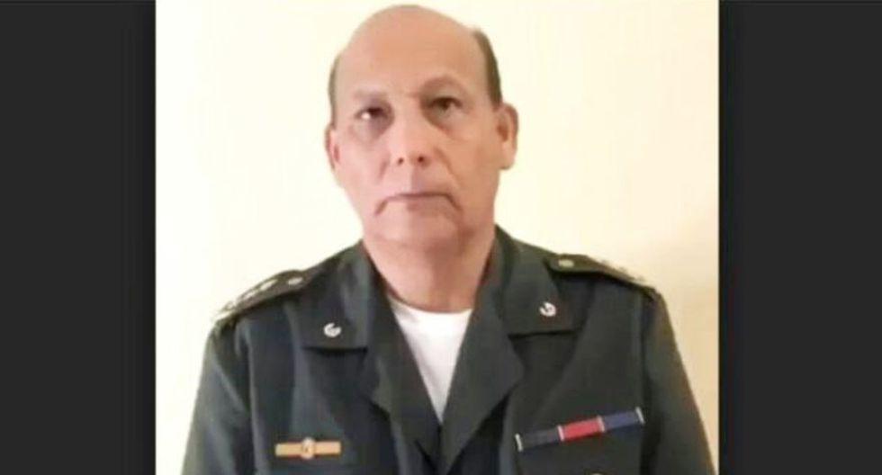 Rubén Paz Jiménez, alto oficial militar, desconoce a Nicolás Maduro como presidente. (Captura)