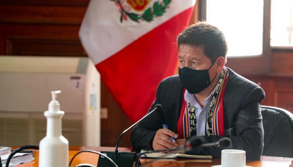 Guido Bellido, presidente Consejo de Ministros, explicó que estuvo en las coordinaciones previas a la instalación de la Comisión Nacional de Alto Nivel para la Igualdad de Género  . (Foto: archivo PCM)