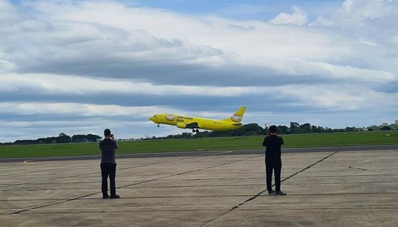 Por el momento, estos aviones ploteados íntegramente de amarillo despegan y aterrizan en Salvador, Manaus, Recife, Porto Alegre, Fortaleza, Goiás y Espírito Santo. (Foto: Difusión)