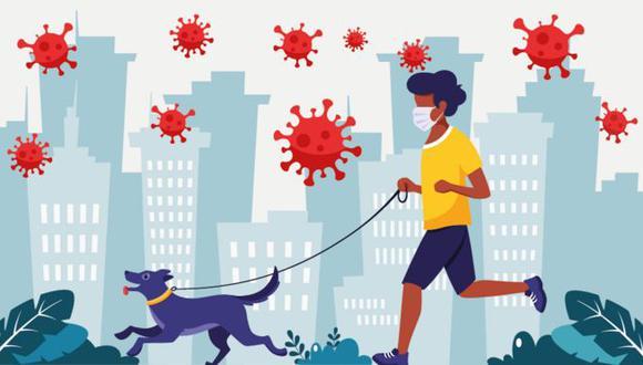 Los expertos consideran que salir a correr acompañado o pasear al perro tiene un riesgo moderado-bajo. (GETTY IMAGES | BBC)