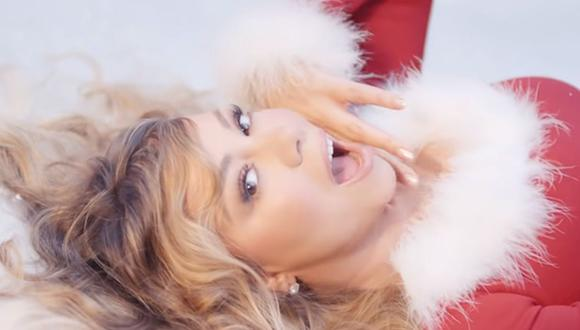 "Mariah Carey estrenó un nuevo videoclip para su clásico ""All I want for Christmas is you"". (Foto: Captura de video)"