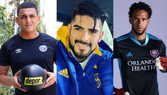 Eduardo Rabanal, Carlos Zambrano, Pedro Gallese y otros futbolistas que fueron 'ampayados' en comprometedoras situaciones con mujeres. (Composición: Grupo El Comercio/ Instagram)