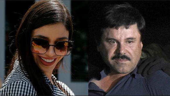 El Chapo Guzmán pide abrazar a su joven esposa Emma Coronel al empezar el juicio en Nueva York. (Foto: AFP / Reuters).