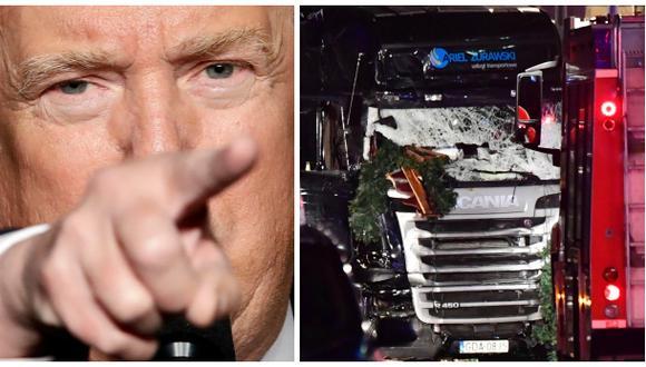Trump: Terroristas islámicos masacraron a cristianos en Berlín