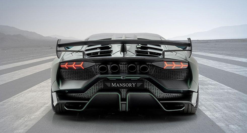 El especialista Mansory ha tomado como base al Lamborghini Aventador SVJ para darle un nuevo aspecto estético y potenciar su mecánica. (Fotos: Mansory).