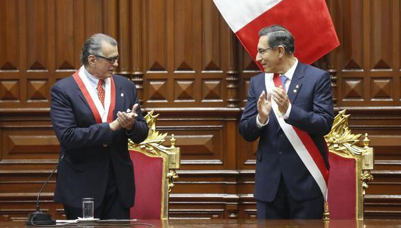 La reunión entre Martín Vizcarra y Pedro Olaechea ha generado expectativa. (Foto: Presidencia)
