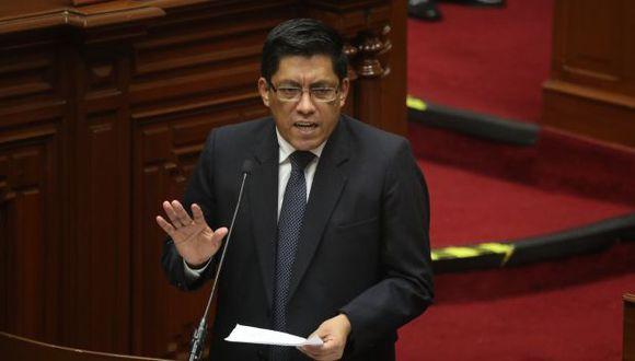Vicente Zeballos expuso el último jueves la política general del gobierno, así como los actos del Ejecutivo durante el interregno parlamentario. (Foto: Congreso)
