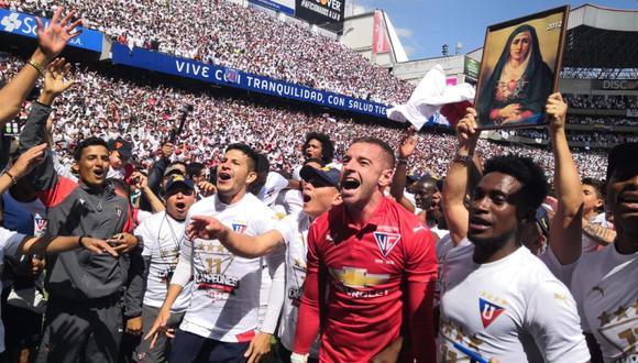 LDU Quito se coronó campeón de la Serie A de Ecuador tras vencer 1-0 a Emelec. El duelo se desarrolló en el estadio Casa Blanca (Foto: agencias)