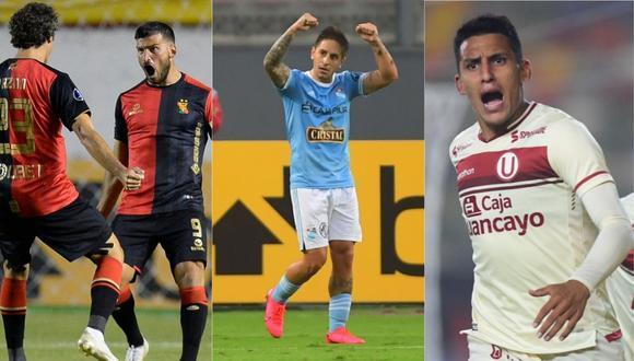 Melgar pelea su grupo en la Sudamericana. Sporting Cristal y Universitario apuntan al torneo tras quedar eliminados en la Libertadores.