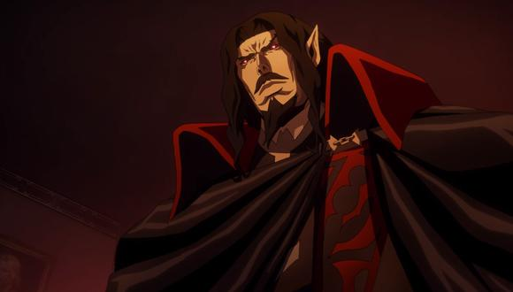 """Drácula, villano de """"Castlevania"""". Su muerte en la temporada 2 no detiene el avance de la historia. Foto: Netflix."""