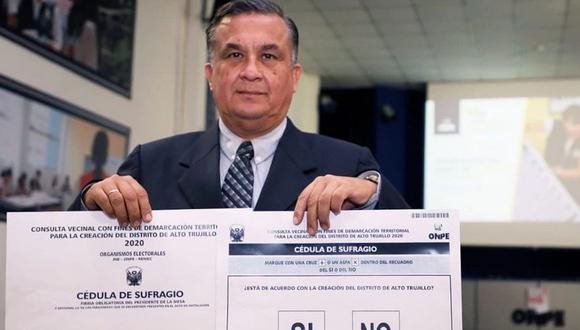 Un total de 13,516 electores deberán responder: ¿Está de acuerdo con la creación del distrito de Alto Trujillo?.  (Foto: ONPE)