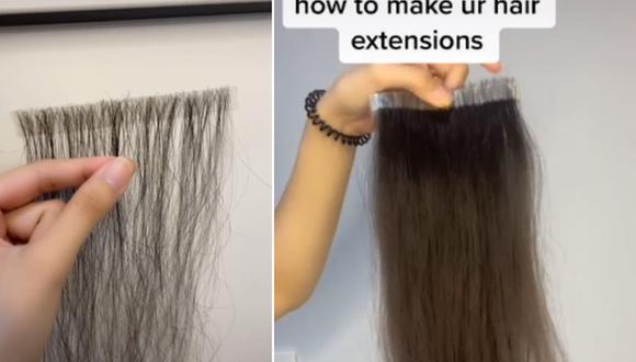 Gran impacto en Internet ha generado una mujer que recoge el cabello que se le cae y lo convierte en extensiones. (Foto: @cocolee379 / TikTok)