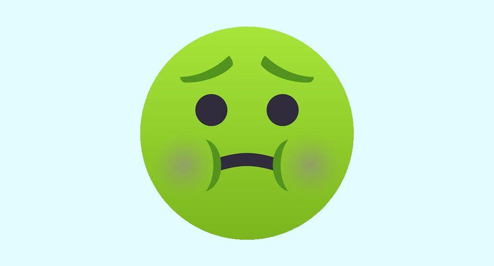 ¿Te has preguntado qué es lo que significa el emoji de la carita verde de WhatsApp? Esta es la explicación. (Foto: Emojipedia)