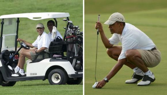 Critican a Obama por jugar golf en plena crisis internacional