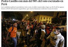Elecciones 2021: así informa la prensa extranjera sobre resultados parciales de segunda vuelta entre Fujimori y Castillo