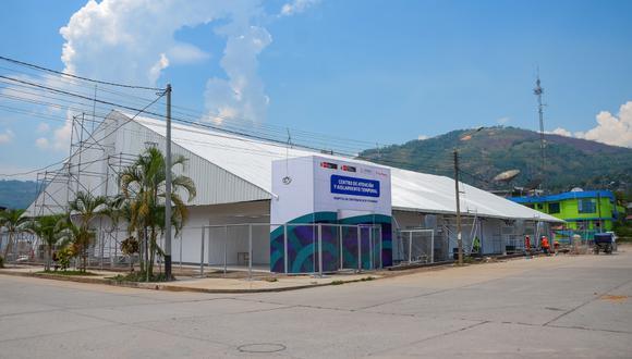 Junín: El Proyecto Especial Legado de los Juegos Panamericanos y Parapanamericanos instala planta de oxígeno que permitirá asegurar el oxígeno continuo en las 50 camas hospitalarias para pacientes COVID-19, en Pichanaqui. (Foto Proyecto Legado)