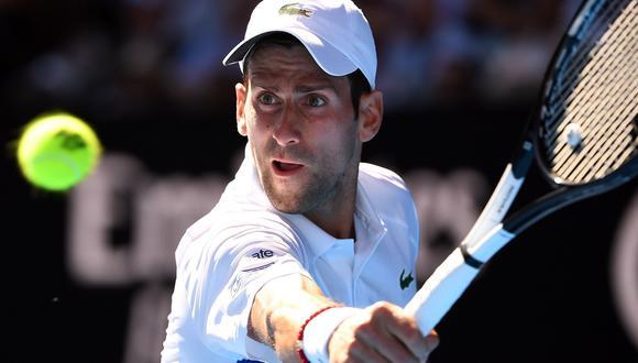 Novak Djokovic enfrentará a Denis Shapovalov esta noche por la tercera ronda del Australian Open. | Foto: AFP