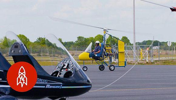 Fundó un club de girocópteros luego de hacer más de 20 [VIDEO]