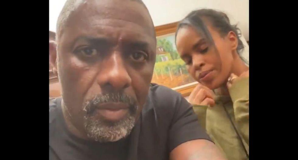 """Idris Elba y su esposa Sabrina Dhowre - El actor reveló el 16 de marzo que había dado un resultado positivo a la prueba del Covid-19. """"Quédense en casa y sean pragmáticos"""", escribió en las redes sociales. (Foto: Twitter)"""