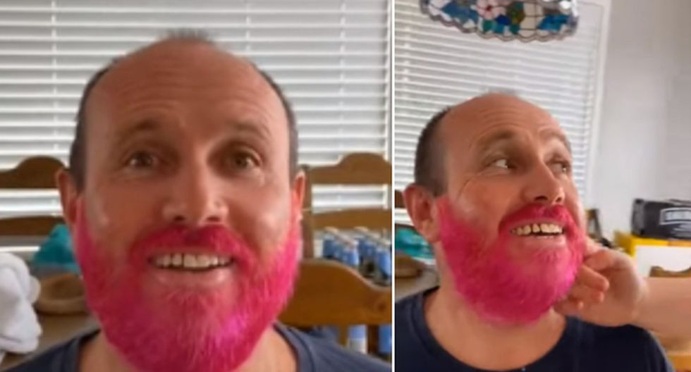 El padre no soportó ver a sus hijas aburridas y por eso aceptó que le hicieran un cambio de look. (YouTube: ViralHog)