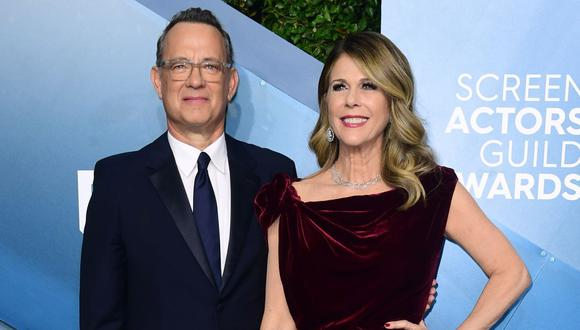 Tom Hanks y Rita Wilson fueron dados de alta pero aún permanecen en cuarentena por coronavirus. (Foto: AFP)