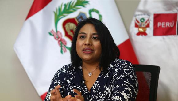 La ministra de Justicia, Ana Neyra, saludó este viernes el rechazo de la moción de vacancia contra el mandatario Martín Vizcarra. (Foto: GEC)