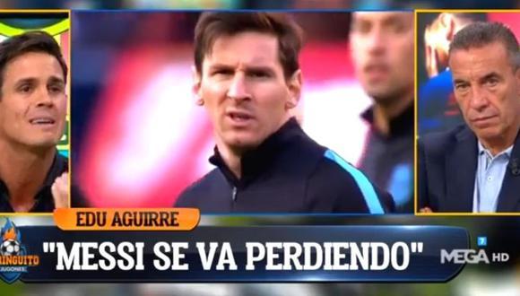 Eduardo Aguirre pega fuerte a Lionel Messi por abandonar a Barcelona (Foto El Chiringuito)