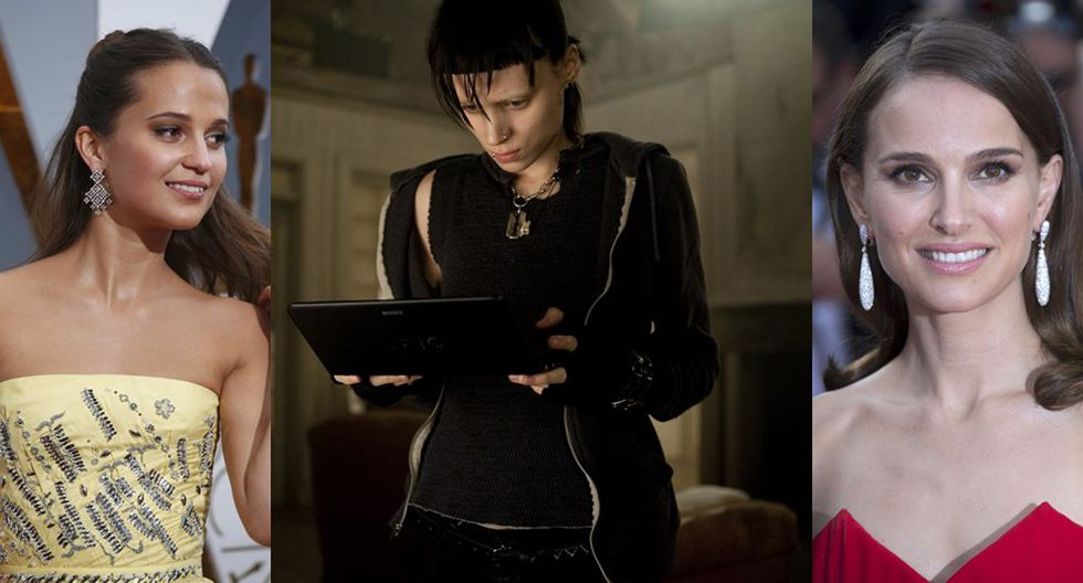 """Millennium"". Al centro Rooney Mara como Lisbeth Salander en ""The Girl With the Dragon Tatoo"" (2011). (Fotos: Reuters)"