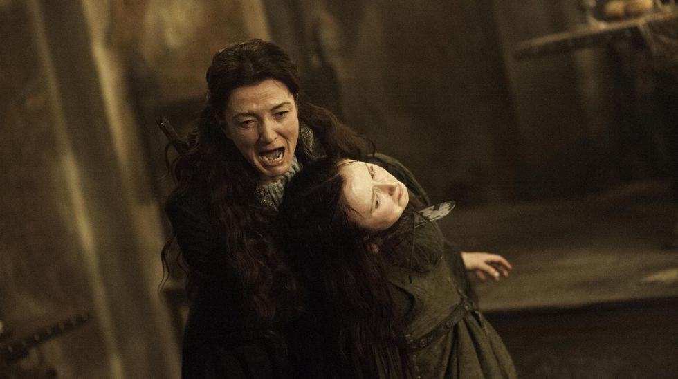 """""""Game of Thrones"""". La expresión de Catelyn Stark en la Boda Roja podría ser la misma que los fans pongan al ver los episodios finales. Foto: HBO."""