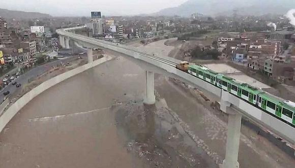 Río Rímac no dañó estructuras de Línea 1 del Metro de Lima