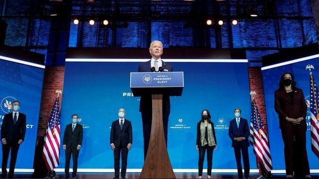 Biden presentó a Mayorkas y otros de nominados para cargos de su futuro gobierno. (Reuters).