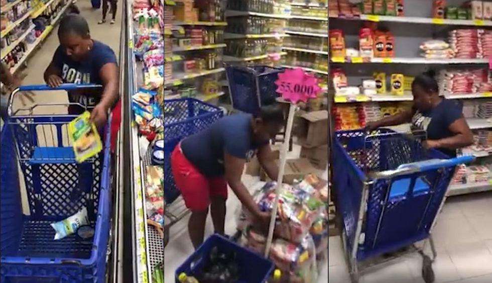 En Facebook fue visto el video viral de una mujer que podía coger todos los artículos que quisiera de un supermercado en el lapso de un minuto. Sin embargo, su lentitud desesperó al público e hizo viral a este clip en redes sociales. (Foto: Captura)