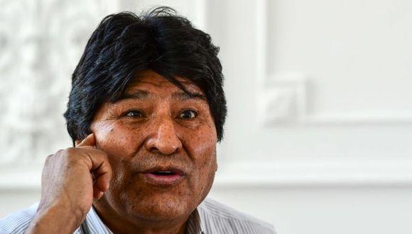 El expresidente boliviano Evo Morales una entrevista Buenos Aires. (Foto: AFP / RONALDO SCHEMIDT).