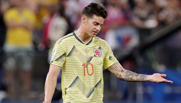 James Rodríguez lamentó la eliminación de Colombia en la Copa América 2019. (Foto: Reuters)