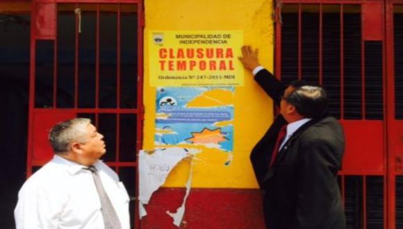 Colegio bamba en Independencia fue cerrado